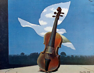 """Mary Helen Horty """"Lay Aside Sadness"""" Original Paper Collage/Montage violin, OBO!"""