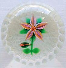 RARE Selkirk Glass Vetro di Murano fermacarte Peter Holmes PH Canna da 1/1 c.1982 7.5 cm