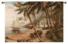 KEY WEST BEACH HIDEAWAY TAPESTRY WALL HANGING W/ROD