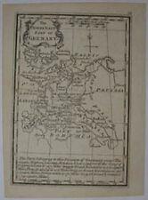 18TH Century Gibson Miniatura mapa del norte de Alemania Oriental