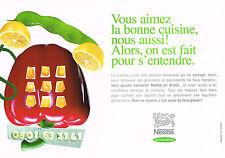 PUBLICITE ADVERTISING  2000   NESTLE   la vie du bon coté ( 2 pages)