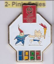 Pin's Folies ** Badge Olympic Albertville Barcelona games 1992 official