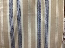 roth & tompkins barrett navy tan cream woven stripe fabric cotton by the yard