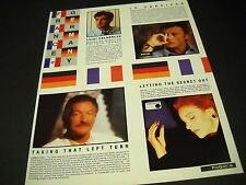 JAMES LAST Milva JOHNNY HALLYDAY 1986 Industry Only PROMO DISPLAY AD mint