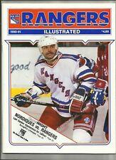 October 29, 1990 Rangers vs Quebec Hockey Program w/ Goal Magazine---Gartner