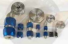 Engine dress up Blue Flex-Braid hose fitting sleeve kit