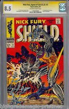 NICK FURY AGENT OF S.H.I.E.L.D #2 CGC 8.5 OWW SS STAN LEE SIGNED  #1183429004