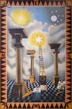 Masonic Entered Apprentice art print poster Tracing Board 1st Degree Freemasons