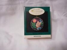 1994 Hallmark Keepsake Ornament Holiday Bunny Miniature Decoration Kocc