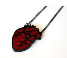 Anatomical Heart Necklace Pendant Gothic Goth Witch Vampire Punk Horror Jewelry