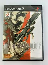 PS2 Metal Gear Solid 2 Sons of Liberty, French PAL, New & Factory Sealed, Flawed