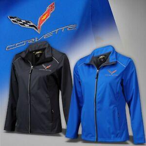 2014-2019 Corvette C7 Womens Lite 3 Layer Jacket with Logo & Script 637694