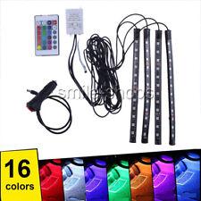 12LED Under Dash Footwell Interior Cigarette Lighter Glow Neon Light Kit RGB
