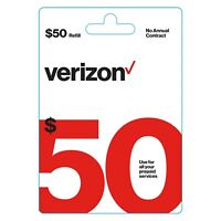 Brand New $50 Verizon Wireless Prepaid Refill Card - Email Delivery fast!!