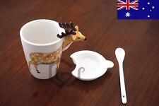 3D Animal Lover china Mug Coffee Tea Merry X'mas Gift Cup Deer Christmas Elk
