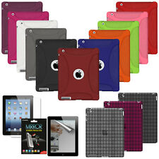 AMZER Silicone Jelly Skin Cover For Apple iPad 2 3 4 New Retina TPU Case Luxe UK