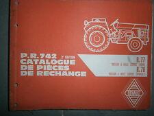 Renault R77 R78 tracteur Master : catalogue pièces d'origine PR742-2