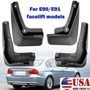 4x For BMW E90 E91 320i 325i 328i 335i xDrive 2008-2012 Mud Flaps Splash Guards