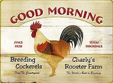 Nostalgic art AIMANT 8 cm x 6 CM GOOD MORNING Bonjour Hahn Cockerel #