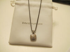 David Yurman Sterling Silver 925 Petite Albion Pave Diamond Pendant