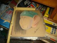 Sketch Original Sericel Mano Caricature Soldier Giovanni Bailey 10-2-43