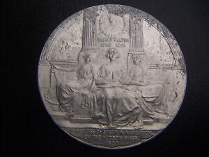 1909 ALUMINUM HUDSON-FULTON MEDAL BY EMIL FUCHS ANS WHITEHEAD-HOAG