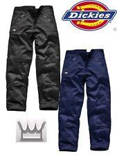 "Dickies Action Trousers Work WD814 Black & Navy 29"" leg Zip Pockets Heavy Duty"
