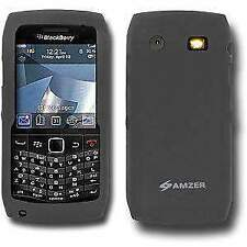 AMZER Grey Soft Silicone Skin Jelly Back Case Cover For BlackBerry Pearl 9100