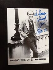 GEORGE HAMILTON IV - CHART TOPPING SINGER - EXCELLENT SIGNED PHOTOGRAPH