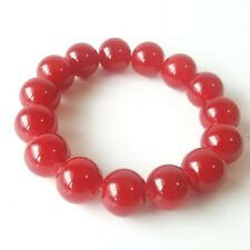 Natural Red Ruby Stone 10 mm Gemstone Jewelry Round Bracelet Stretch Beads