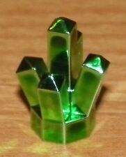 LEGO - Rock / Jewel 1 x 1 Crystal 5 Point - Chrome Green - VERY RARE