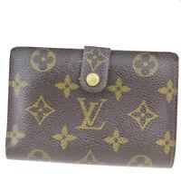 Auth Louis Vuitton Monogram M61674 Viennois Monogram Middle Wallet (bi-f 08FA605