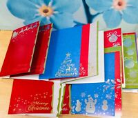 PREMIUM FOIL CHRISTMAS CARD BLANKS + ENVELOPES A5 metallic craft QUALITY x20