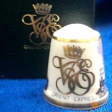 Venice Simplon Orient Express Thimble by Sutherland Bone China New & Boxed VSOE