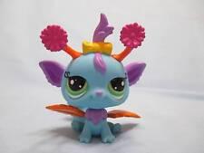Littlest Pet Shop #2833 Iris Blue Fairy w/Green Eyes Orange Leaf Wings Authentic