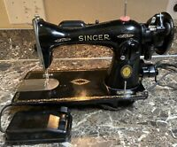 Singer 15 91 Centennial Heavy Duty Sewing Machine November 1950 Foot Pedal Used