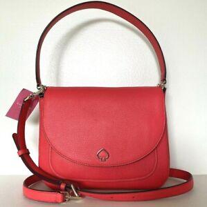 New Kate Spade Kailee Medium Flap Shoulder bag Leather handbag Stoplight