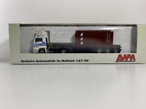 MAN TGA 1:87 LKW AWM Mit Container Hafen Braunschweig