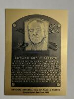 ED BARROW Hall of Fame METALLIC Plaque Card