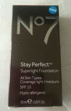 No7 stay perfect superlight foundation 30ml mocha - bnib