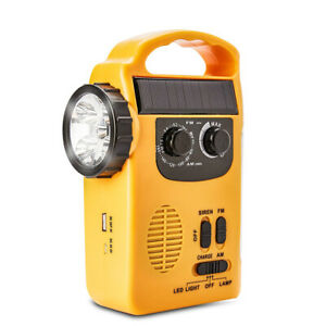 Radio LED Camping Portable Rechargeable Solar Powered Radio Loud Emergency Siren