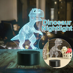 3D Dinosaur Night Light Bedroom Desk Table Lamp Xmas Christmas Gift For Kids