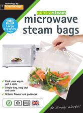 Confezione da 25 Toastabags Quickasteam Microonde Grande vapore Sacchetti