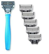 New Harrys Mens Razor Set with 6 Razor Blades (Sky Blue)