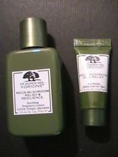ORIGINS MEGA-MUSHROOM Soothing Lotion 30 ml & Eye Serum 5 ml - 2 NEW SAMPLES