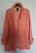Beautiful NEW GAP Trench Coat - Jacket Coral Colour  Size: XS