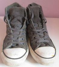 VTG Unisex Chuck Taylor CONVERSE Grey Suede Hi Top Trainer/Shoe Size 5