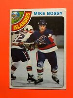 Mike Bossy ROOKIE 1978-79 O-Pee-Chee NHL Hockey Card #115 Islanders