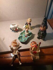 Vintage Lot of 6 Pixie Elfs