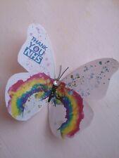NHS Rainbow Butterflies, Thank You NHS wall Decals, Rainbow Wall Art butterflies